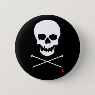 Knit Until You Bleed 6 Cm Round Badge