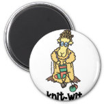 Knit-Wit 6 Cm Round Magnet