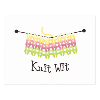 Knit Wit! Postcard