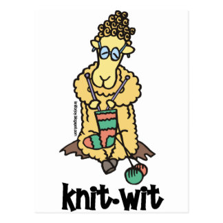 Knit-Wit Postcard