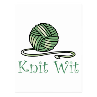 KNIT WIT POSTCARD