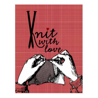 Knit with Love: Creative Motivational Postcard