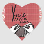 Knit with Love: Creative Motivational Sticker