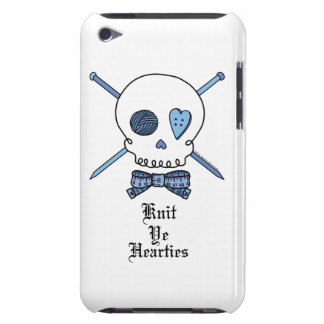 Knit Ye Hearties (Blue) iPod Case-Mate Case