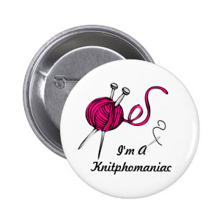 Knitphomaniac 6 Cm Round Badge