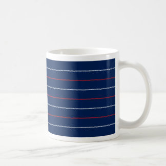 Knitted | Blue Red White Pattern Design Coffee Mug
