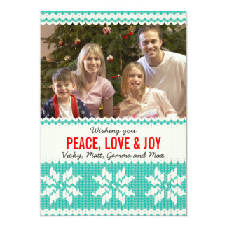Knitted Christmas Photo Card / Holiday Card Invitations