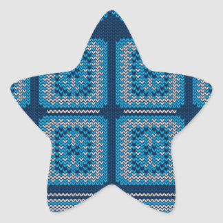 Knitted Decorative Background2 Star Sticker