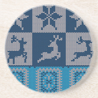 Knitted Decorative Background Coaster