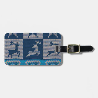 Knitted Decorative Background Luggage Tag