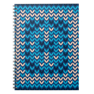 Knitted Decorative Background Notebook