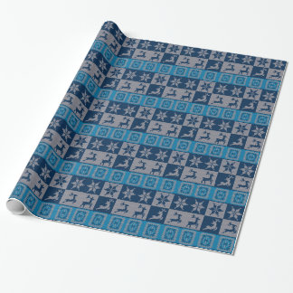 Knitted Decorative Background Wrapping Paper
