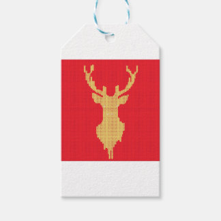 Knitted Deer Gift Tags