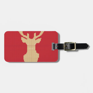 Knitted Deer Luggage Tag