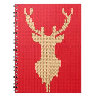 Knitted Deer Notebook