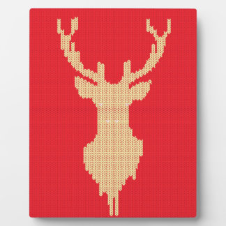 Knitted Deer Plaque