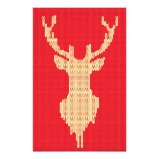 Knitted Deer Stationery