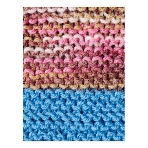 Knitted Design Postcard