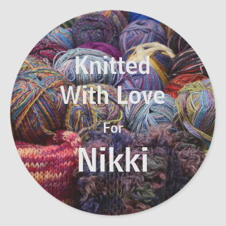 Knitted for stickers