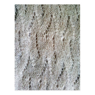Knitted laced pattern postcard