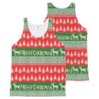 """Knitted """"Merry Christmas"""" pattern All-Over Print Singlet"""