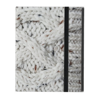 Knitted pattern iPad case