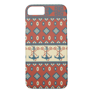 Knitted pattern with anchor iPhone 7 case