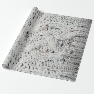 Knitted pattern wrapping paper