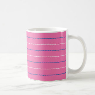 Knitted   Pink Blue White Pattern Design Coffee Mug