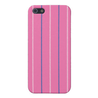 Knitted | Pink Blue White Pattern Design iPhone 5 Cases