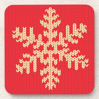 Knitted Snowflake Pattern Coaster