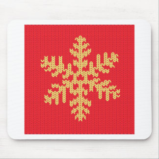 Knitted Snowflake Pattern Mouse Pad