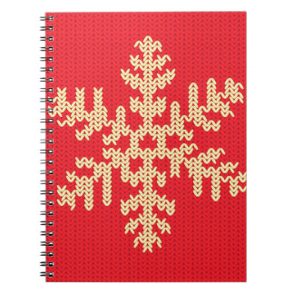 Knitted Snowflake Pattern Notebook