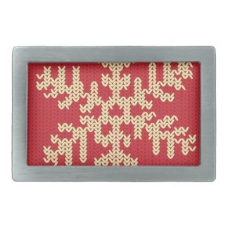 Knitted Snowflake Pattern Rectangular Belt Buckle