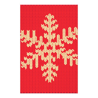 Knitted Snowflake Pattern Stationery