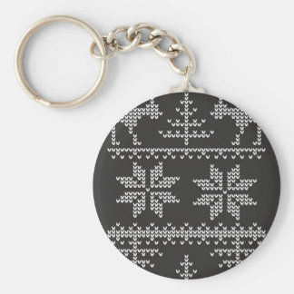knitted sweater pattern basic round button key ring