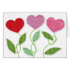 Knitted Valentine Flowers Card
