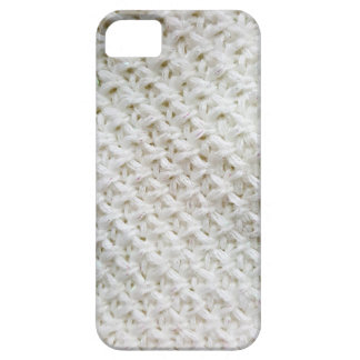 Knitted white pattern case for the iPhone 5