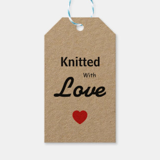 Knitted with love tag