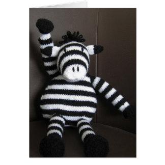 Knitted zebra card