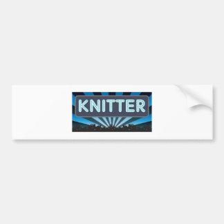 Knitter Marquee Bumper Sticker