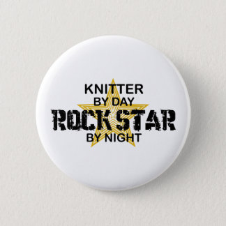 Knitter Rock Star by Night 6 Cm Round Badge