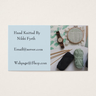 Knitters business card