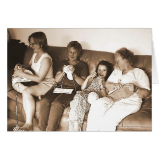 Knitters (card) card