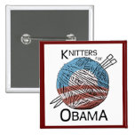 Knitters for Obama Button #3