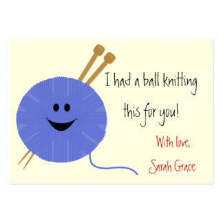 Knitter's Hang Tag Pack Of Chubby Business Cards