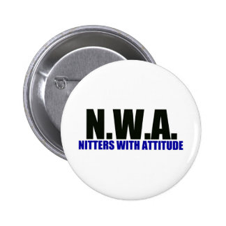 Knitters With Attitude 6 Cm Round Badge