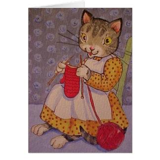 Knittin' Kitten Card
