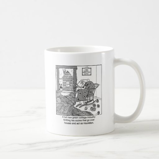 Knitting, a Green Cottage Industry Mugs