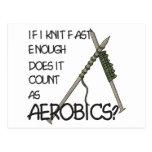 Knitting Aerobics Post Cards